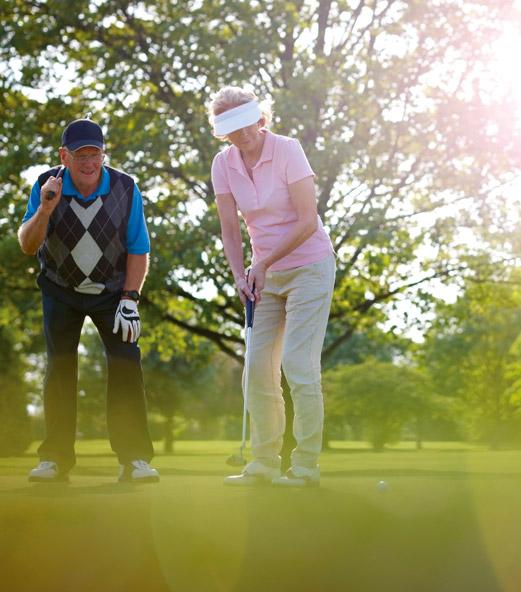 Practice de golf autour du Domaine