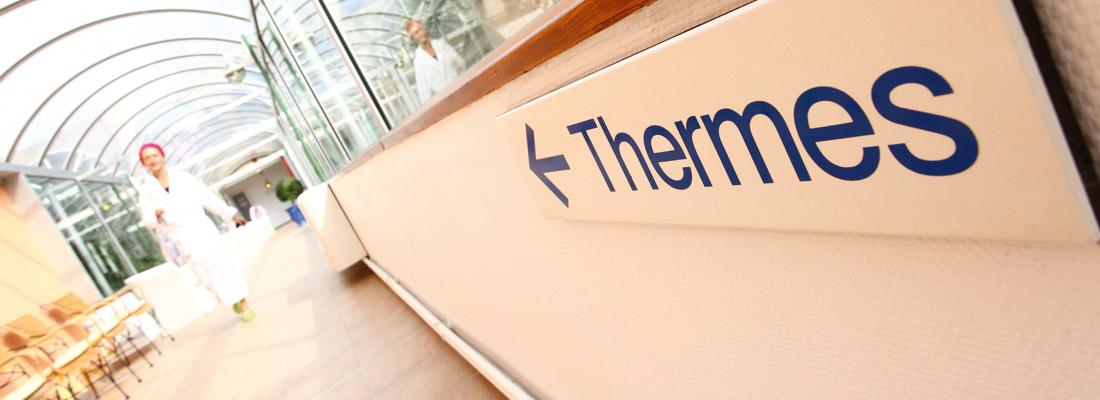 Accès aux Thermes par Galeries fermées et chauffées